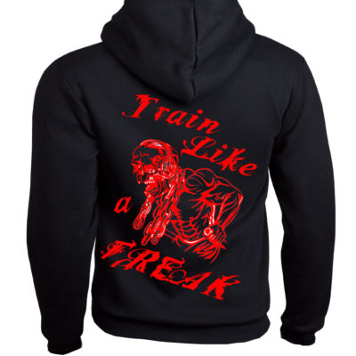 Conan Wear Sweat Jacke Train like a Freak 1 schwarz