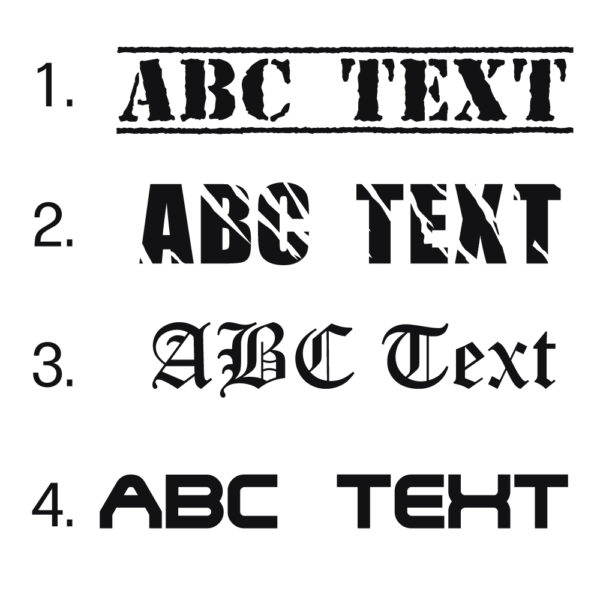 Logo Gurt Schriftarten