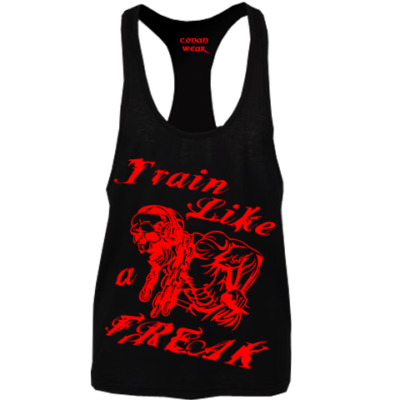 MUSCLE SHIRT Train Like a Freak Black